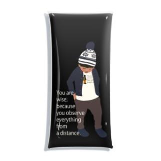 ノルディック帽の少年BK(スマホサイズ) Clear Multipurpose Case