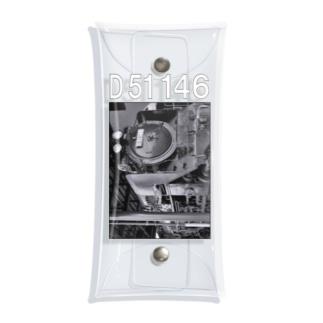 テンダー式蒸気機関車 D51146 (モノクロフォト) Clear Multipurpose Case