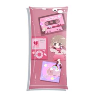 I LOVE MUSIC(アイテム少なめ) Clear Multipurpose Case