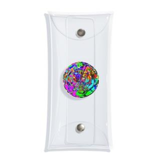 パターン005:crazy sphere Clear Multipurpose Case
