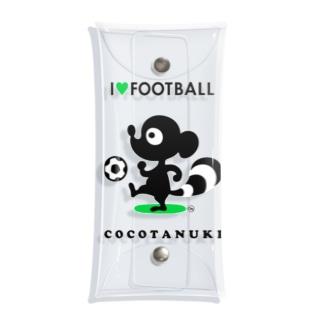 サッカー大好きココタヌキ Clear Multipurpose Case
