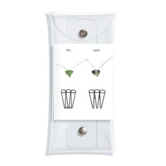 カマキリの昼と夜の複眼(英語、背景白色ver) Clear Multipurpose Case