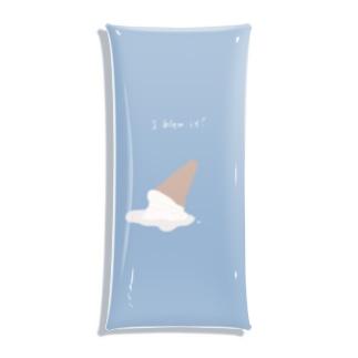 I blew it!(blue) Clear Multipurpose Case