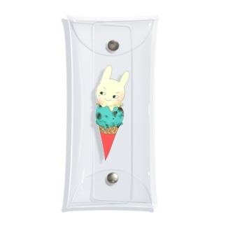 アイスのぽんきち Clear Multipurpose Case