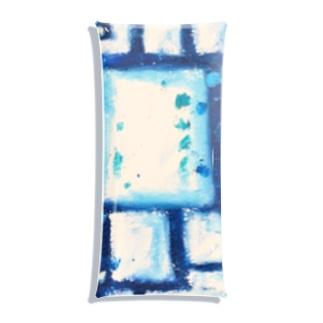 青のガラス Clear Multipurpose Case