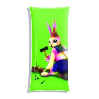 呪いをかけるウサギ Clear Multipurpose Case