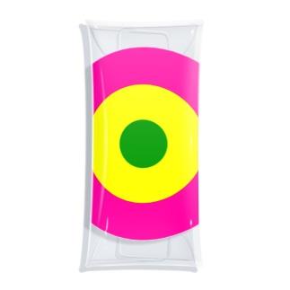 サークルa・ショッキングピンク2・黄・緑 Clear Multipurpose Case