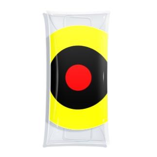 サークルa・黄・黒・赤 Clear Multipurpose Case