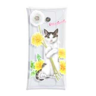 タンポポとサバトラ子猫② Clear Multipurpose Case