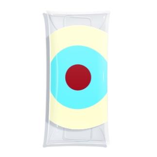 サークルa・クリーム・水色3・チョコ Clear Multipurpose Case