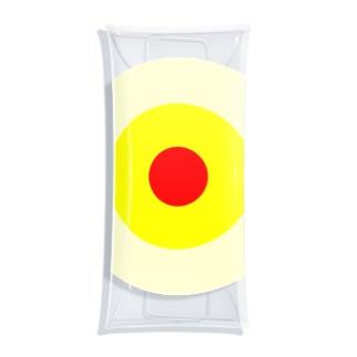 サークルa・クリーム・黄・赤 Clear Multipurpose Case