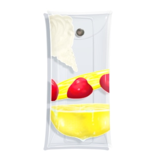 strawberry and lemon Q Clear Multipurpose Case