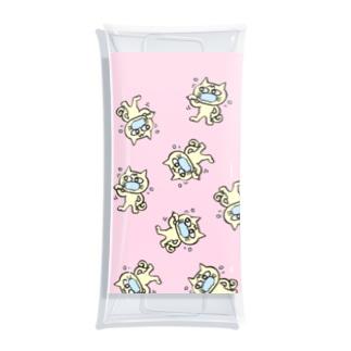 hamigaki menchi(baby pink) Clear Multipurpose Case