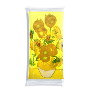 ゴッホ/ひまわり Vincent van Gogh / Sunflowers Clear Multipurpose Case