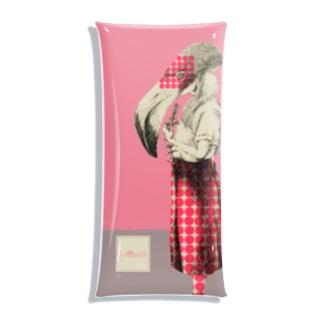化けの皮ーフラミンゴー Clear Multipurpose Case