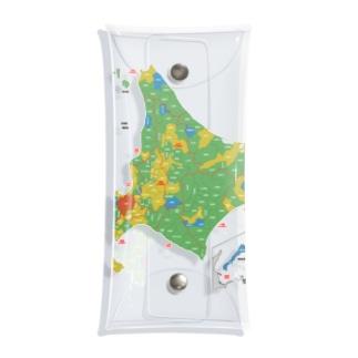 北海道179市町村地図 Clear Multipurpose Case