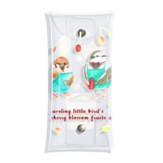 Prism coffee beanの旅する小鳥の桜の実カフェ Clear Multipurpose Case
