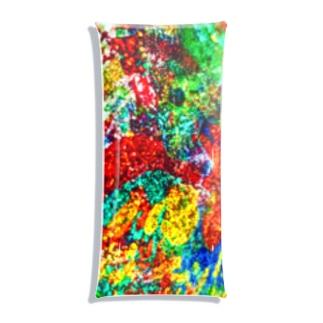 絵画の花 Clear Multipurpose Case