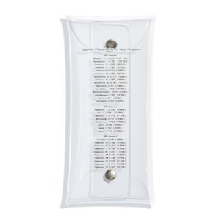 古代エジプト新王国王名表 コンサートTシャツ風A Clear Multipurpose Case