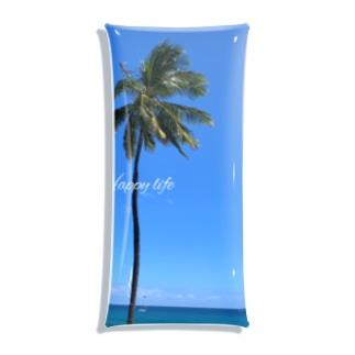 空と椰子の木🌴 Clear Multipurpose Case