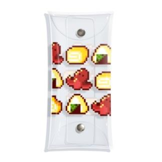 にく、ましましで。のお弁当三銃士お腹いっぱいバージョン Clear Multipurpose Case