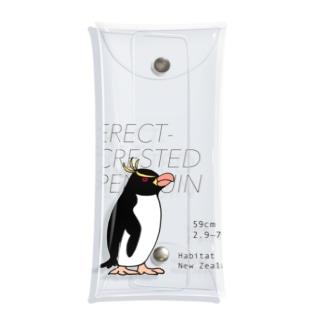 空とぶペンギン舎のマユダチペンギン Clear Multipurpose Case