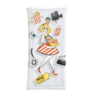 Popcorn Girl Clear Multipurpose Case