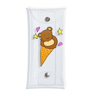 熊アイス Clear Multipurpose Case