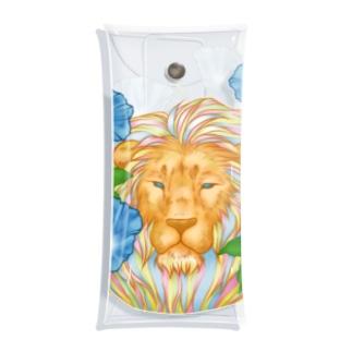ライオンとアサガオ Clear Multipurpose Case
