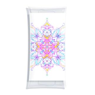 A Cross Flower of Love Clear Multipurpose Case