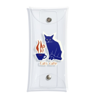 Cats cafe Clear Multipurpose Case