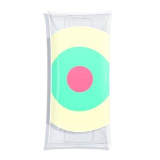 サークルa・クリーム・ペパーミント・ピンク2 Clear Multipurpose Case