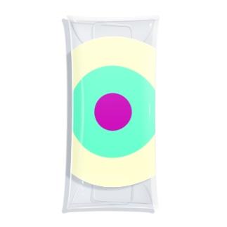 サークルa・クリーム・ペパーミント・パープル2 Clear Multipurpose Case