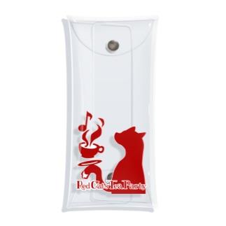 赤猫茶会ロゴ Clear Multipurpose Case