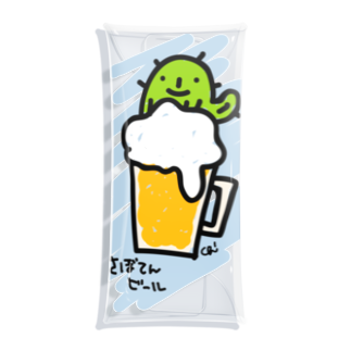 chizuruのさぼてんビール Clear Multipurpose Case