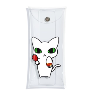しれねこ。「ごはん。」 Clear Multipurpose Case