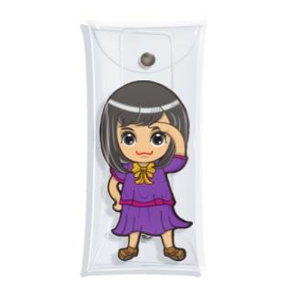 ちびキャラ/SCHOOLTYPE:紫【一ノ瀬彩】 Clear Multipurpose Case