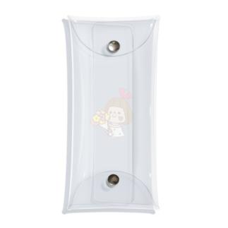 花束ぴんきーりぼんちゃん Clear Multipurpose Case
