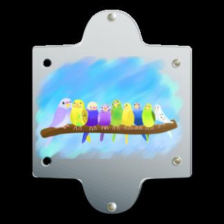 Lily bird(о´∀`о)のぎゅうっとセキセイずと青空① Clear Multipurpose Case
