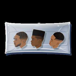 P's artの90s hairstyle-MEN- Clear Multipurpose Case