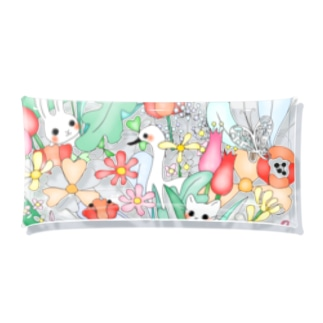 flowers & animals Clear Multipurpose Case