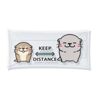 カワウソさん Social Distance Clear Multipurpose Case