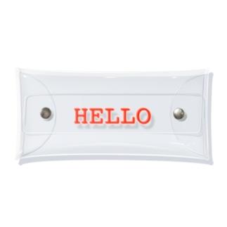HELLO レッド Clear Multipurpose Case