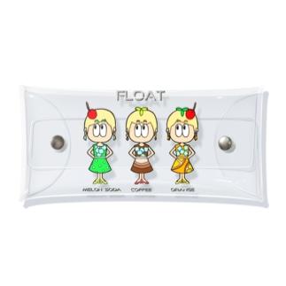 ドリンク/昭和レトロファッション Clear Multipurpose Case