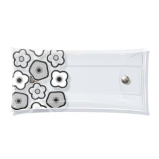 Flower pattern お花柄 Clear Multipurpose Case