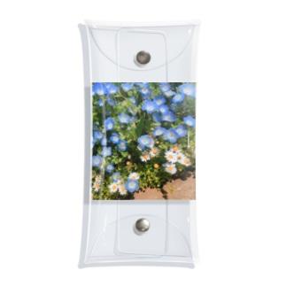 ネモフィラと白い花 Clear Multipurpose Case
