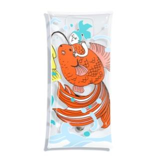 跳ね金魚 Clear Multipurpose Case