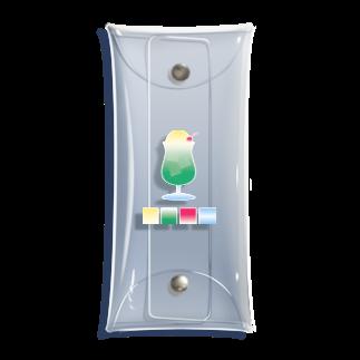 hrsworld™のクリームソーダとカラーパレット Clear Multipurpose Case
