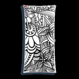 BENITANGLE *SUZURI支店*の赤黒白べにたんぐるA Clear Multipurpose Case