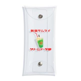 新宿SAMURAIクリームソーダ部 Clear Multipurpose Case